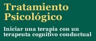 Tratamientos psicológicos con terapeutas cognitivo conductuales. Póngase en contacto con nuestra red de terapeutas.